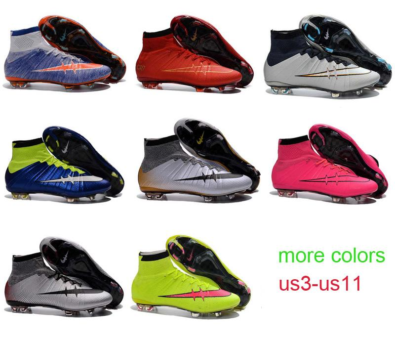 2017 New Soccer Shoes Kids Children Women Youth Mercurial Superfly ...