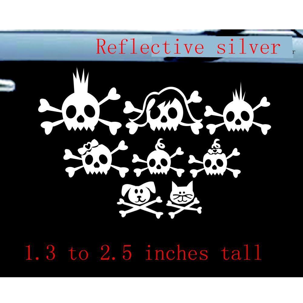 Skull Family Funny Car Phone Wall Window Decal Sticker Skulls - Car window decal stickers online