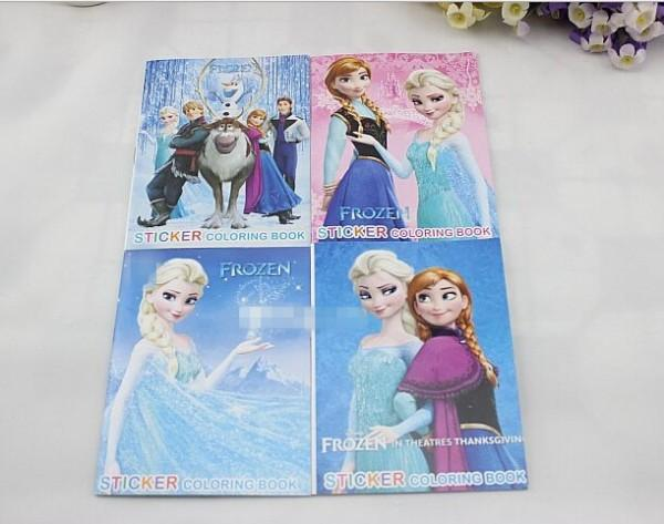 Frozen Cartoon 10514cm Kids Coloring Book With Stickers