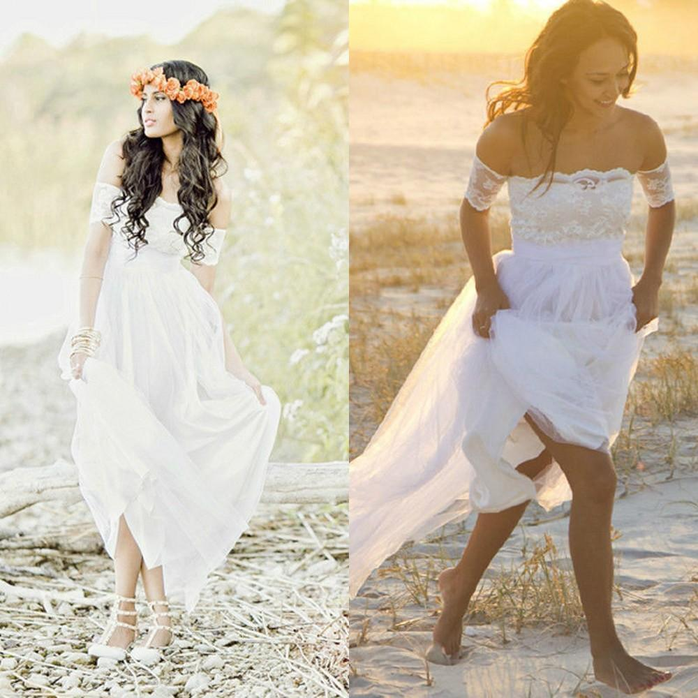 Romantic Classic Wedding Dress: Romantic Vintage Bridal Gowns Lace Sexy Beach Wedding