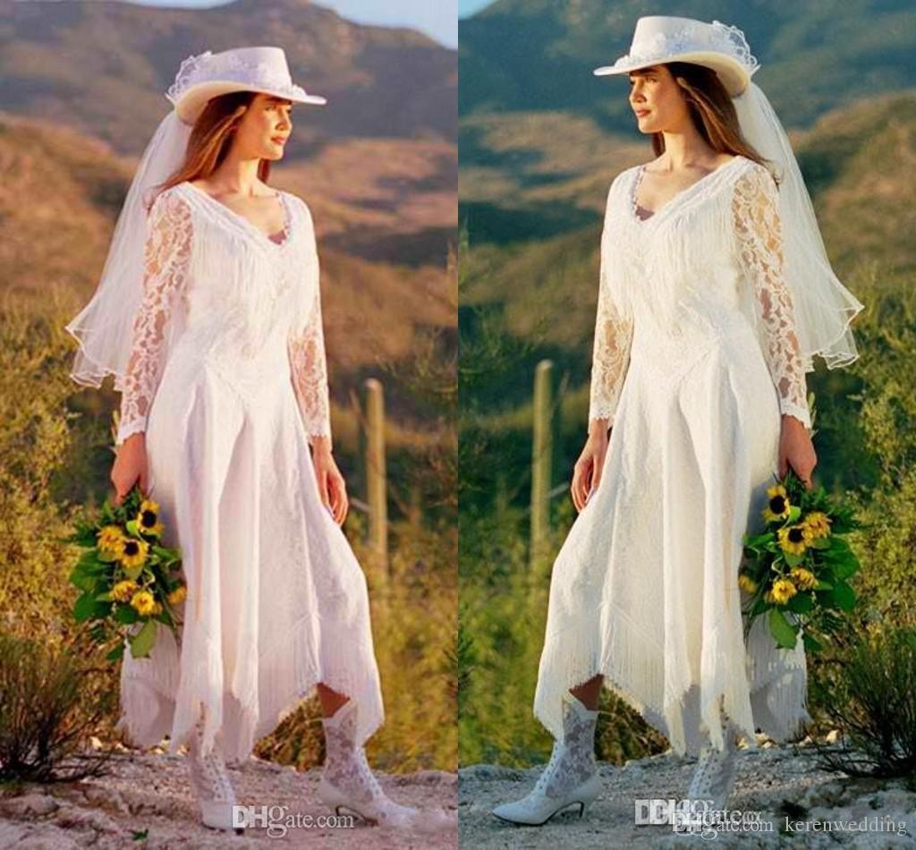 2015 Greek Style Vintage Lace Beach Wedding Dresses V Neck