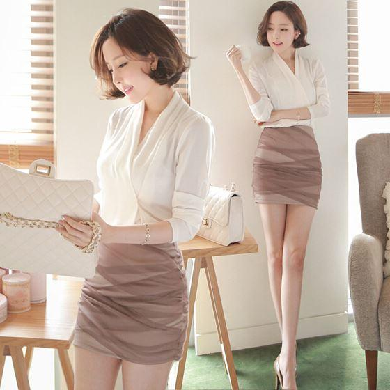 Discount Ladies White Office Blouse New 2015 Spring Autumn Korean ...