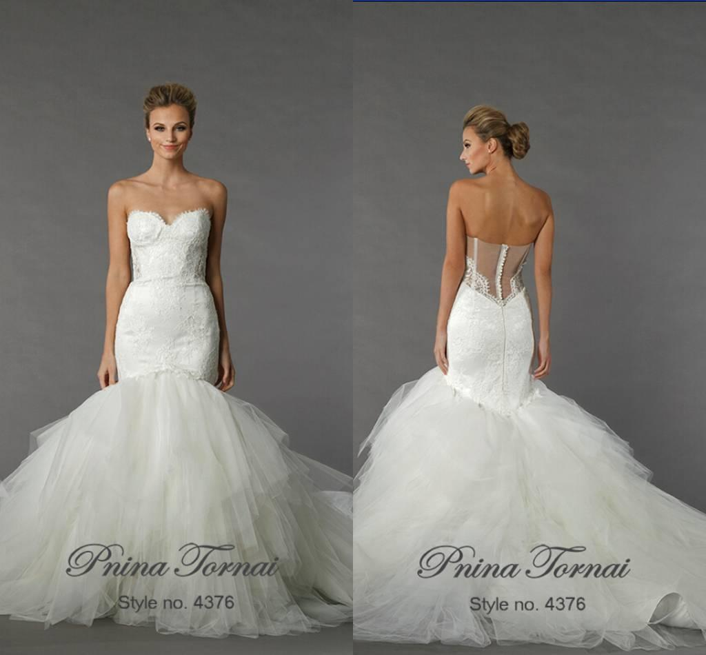 Vestidos De Novia Pnina Tornai Mermaid Wedding Dresses 2015 Beaded ...