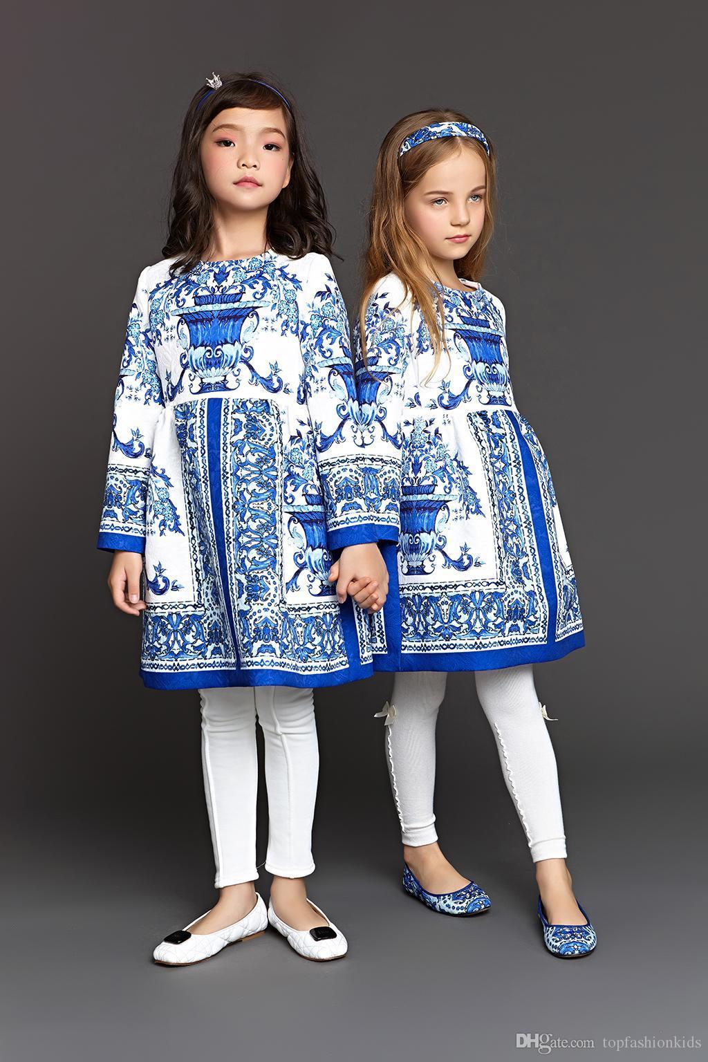 2017 Wholesale Wl Monsoon Girl Christmas Dresses Luxury