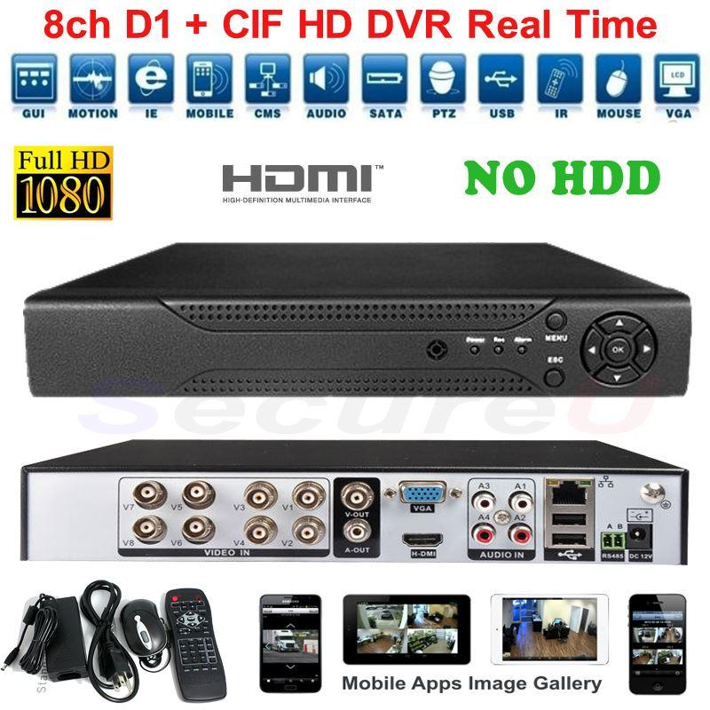 top selling rated cctv 8ch dvr security system 8 channel d1 high definition video recorder cell. Black Bedroom Furniture Sets. Home Design Ideas