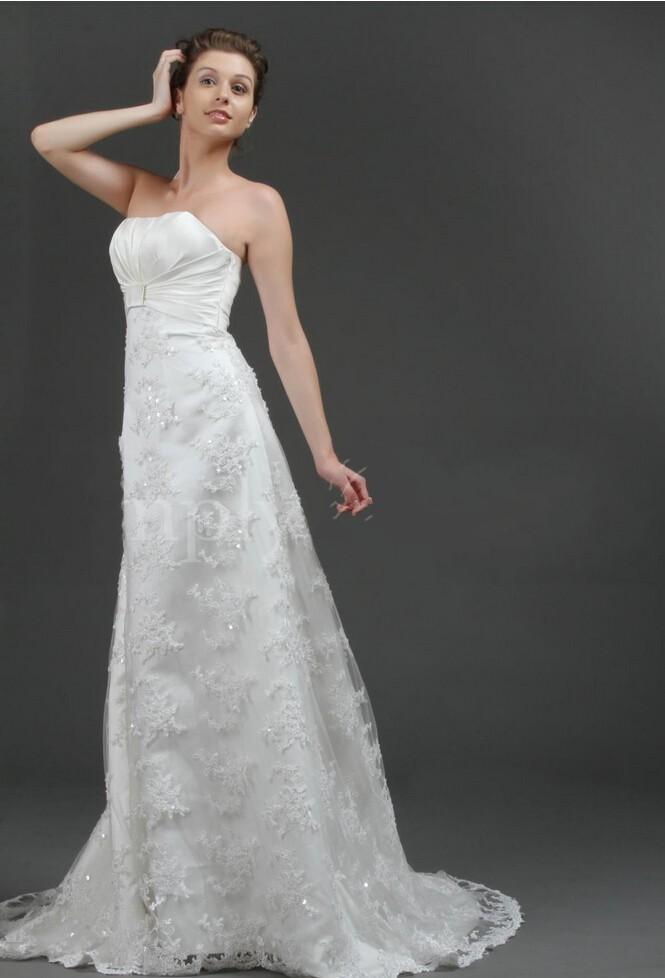 New arrival 2016 lace wedding dresses strapless bridal for High end designer wedding dresses
