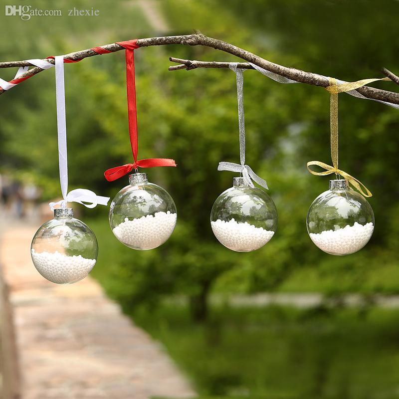 Wholesale factory xmas sale clear glass balls christmas