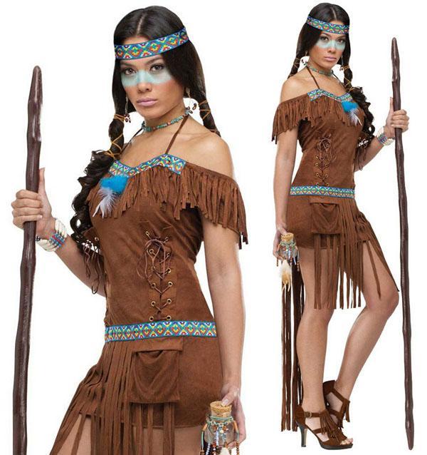 hot sale custom made sexy womens native american indian halloween cosplay costume halloween party event coser cosplayer american indian cosplay costume - Halloween Native American