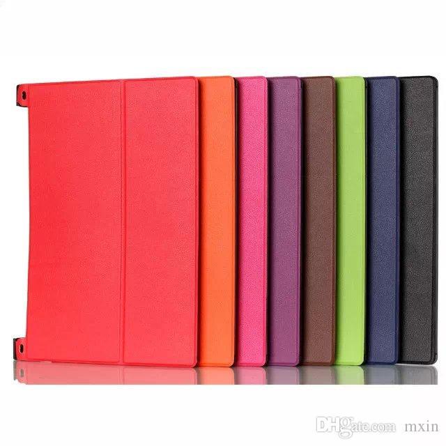8 Colors PU leather Slim Hard back Cover Case Lenovo Yoga 2 Yoga2 Tablet 830F 830 10.1 inch 1050F 1050