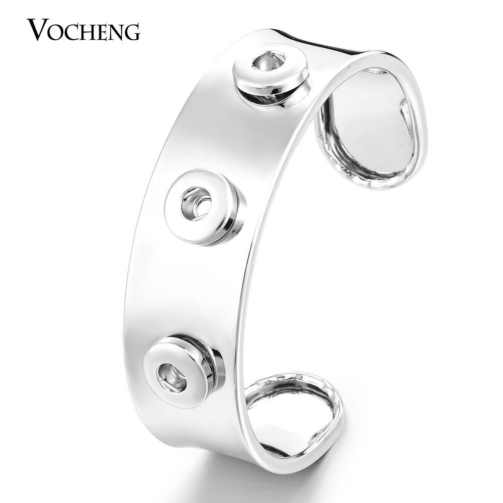 VOCHENG Small NOOSA Trend Jewelry Interchangeable 12mm Snap Button Charm Bracelet (Vb-031)