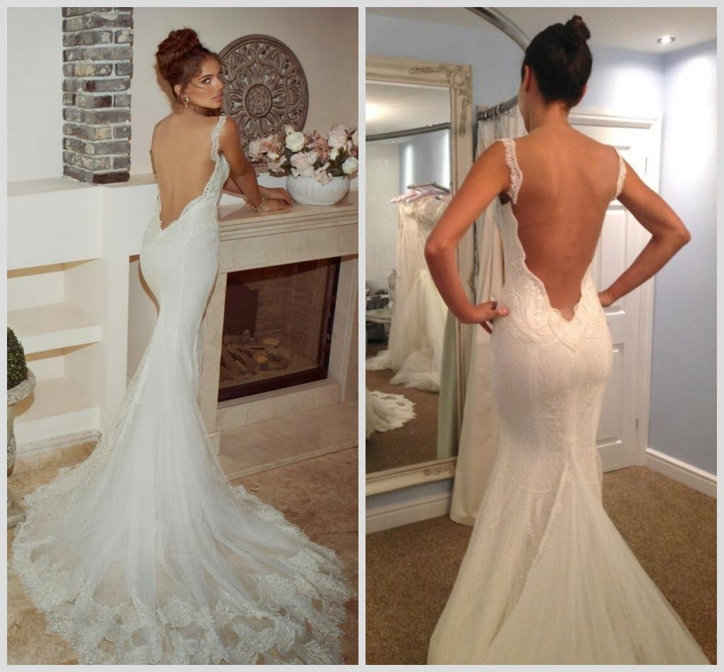Low Back Lace Wedding Dress 2015 Galia Lahav Sexy Backless Bride ...