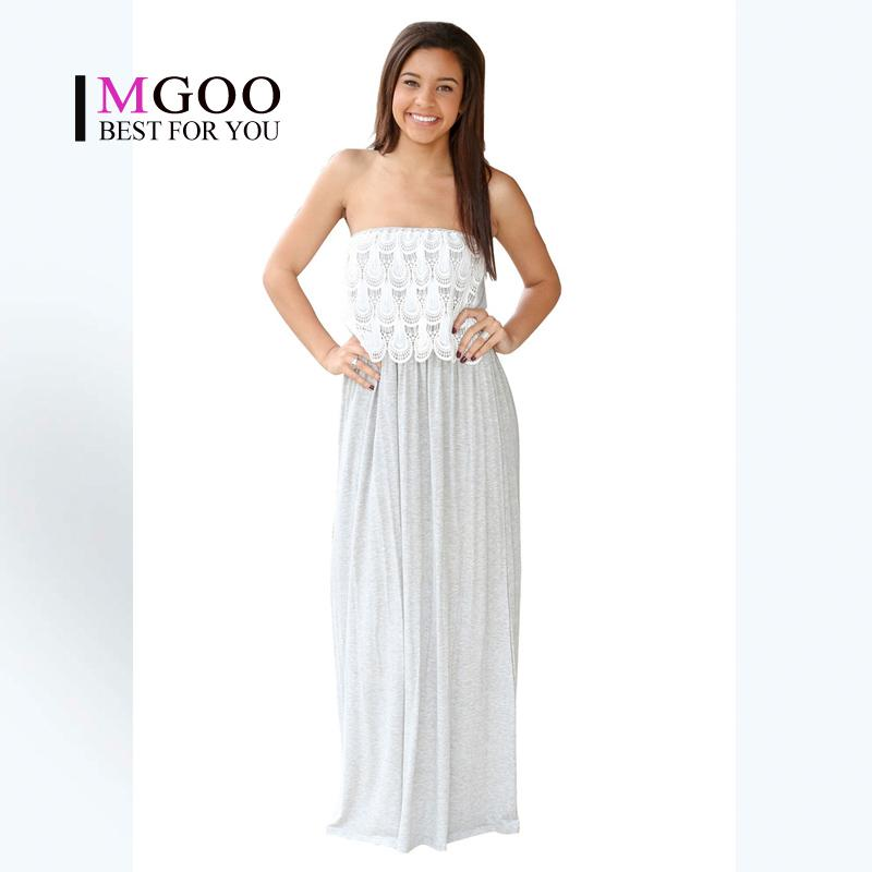 Maxi dress off the shoulder white top