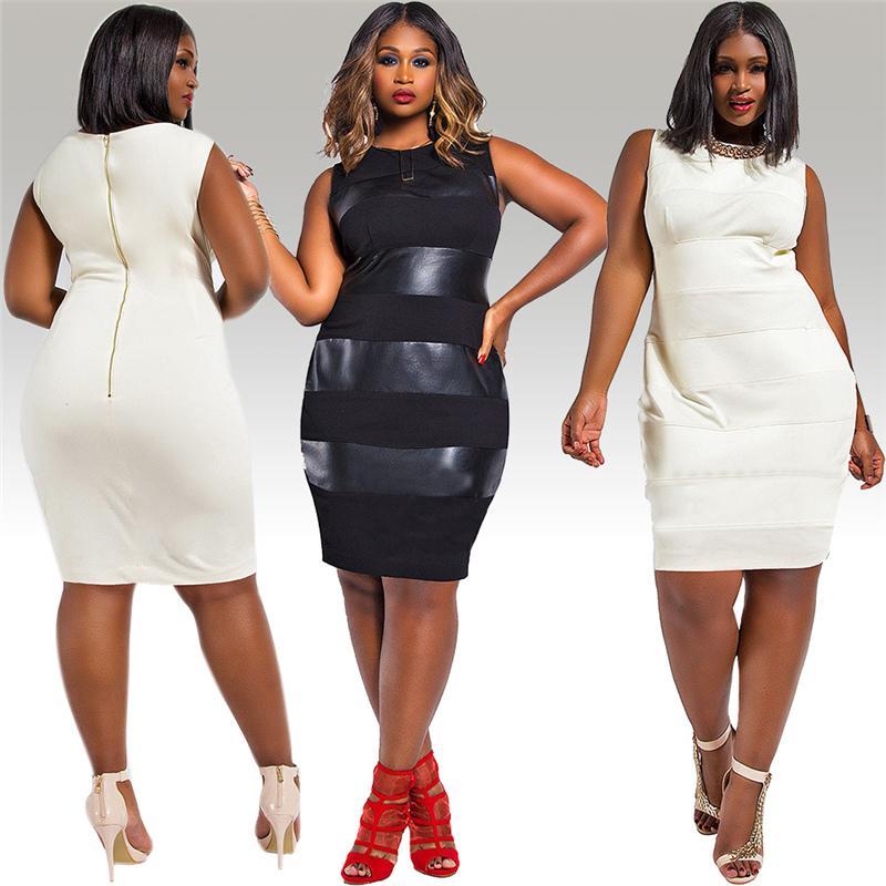 Plus size white club dresses