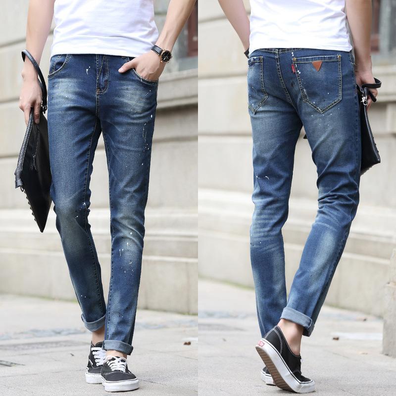 2017 2016 Splash Ink Jeans For Men Fashion Vintage Designer Light ...