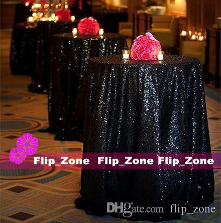 Bling Black Sequins Table Cloth For Garden Gothic Wedding Party Decorations  Sequined Cake Tablecloth Round Table Decor Runner Skirts Cheap Table Cloth  Table ... Part 96