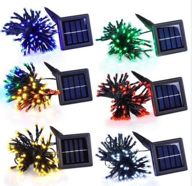 X10 Outdoor Lighting: X10+ Dhl Holiday Lights 12m 100leds Led Solar Power Fairy