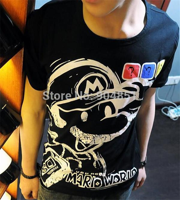 Drop shipping women men cartoon mario t shirt short sleeve for Drop ship t shirt printing