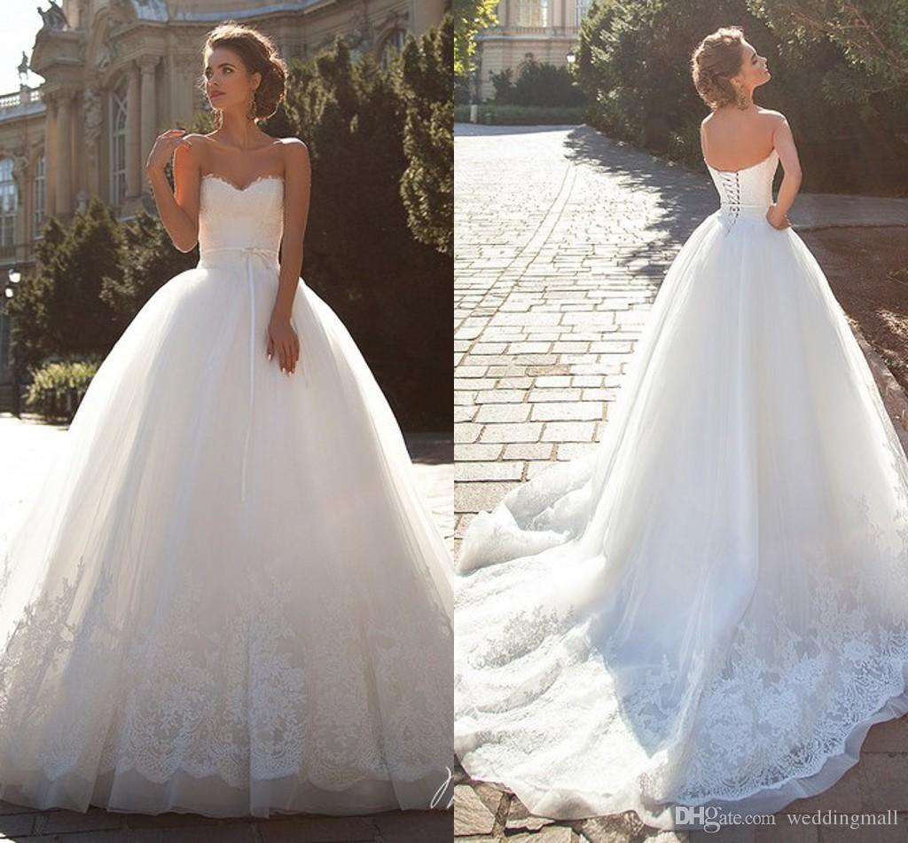 Lace vintage millanova 2016 wedding dresses sweetheart for Dhgate wedding dresses 2016