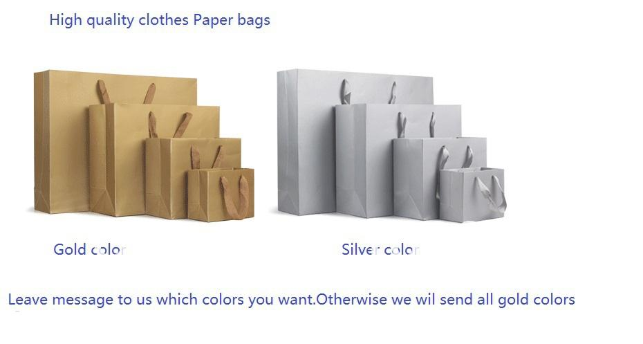 Best Large Size Gold Paper Bags Apparel Packing Gold Bags High ...
