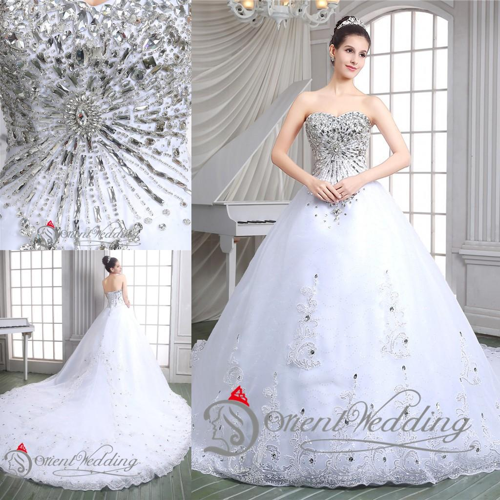 Wedding Selling Wedding Dress the best selling vestidos de novia 2015 ball gown wedding dresses long style with sparkle crystals