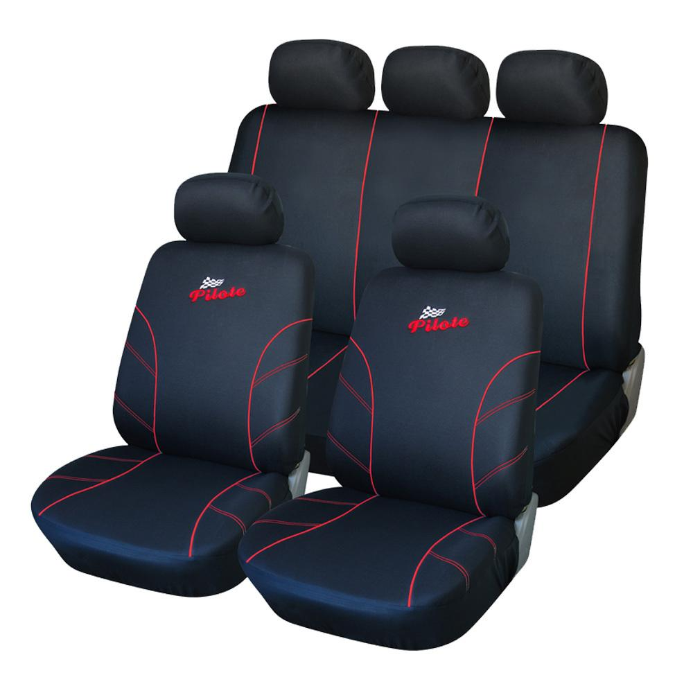 best quality polyester fabric racing full car seat cover