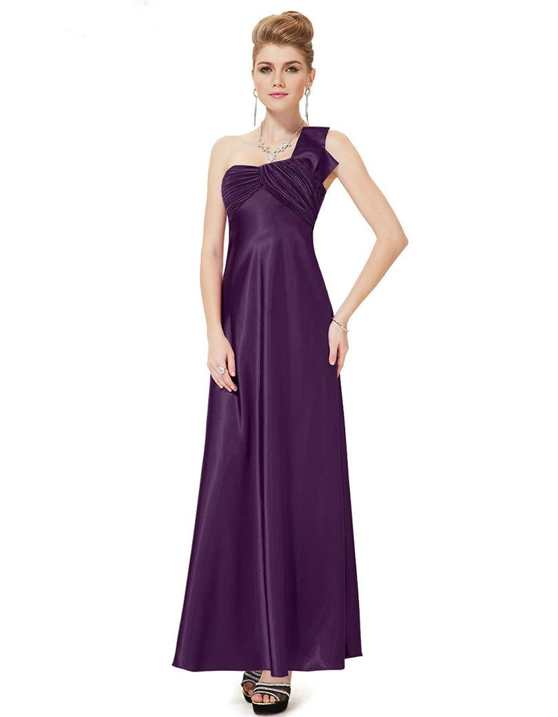 clearance Sale Bridesmaid Dresses One Shoulder Ruffles Satin More ...