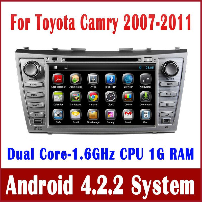 android 4 2 car dvd player for toyota camry 2007 2008 2009 2010 2011 with gps navigation radio. Black Bedroom Furniture Sets. Home Design Ideas