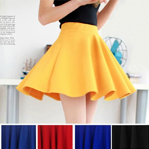 Yellow Flare Skirt Online | Yellow Flare Skirt for Sale