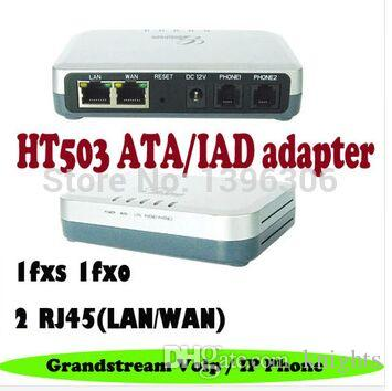 HT503 Grandstream Consumer Analog Telephone Adaptors VOIP Telecommunications ATA/IAD 1 FXS 1 FXO Port SIP Voip gateway Adapter