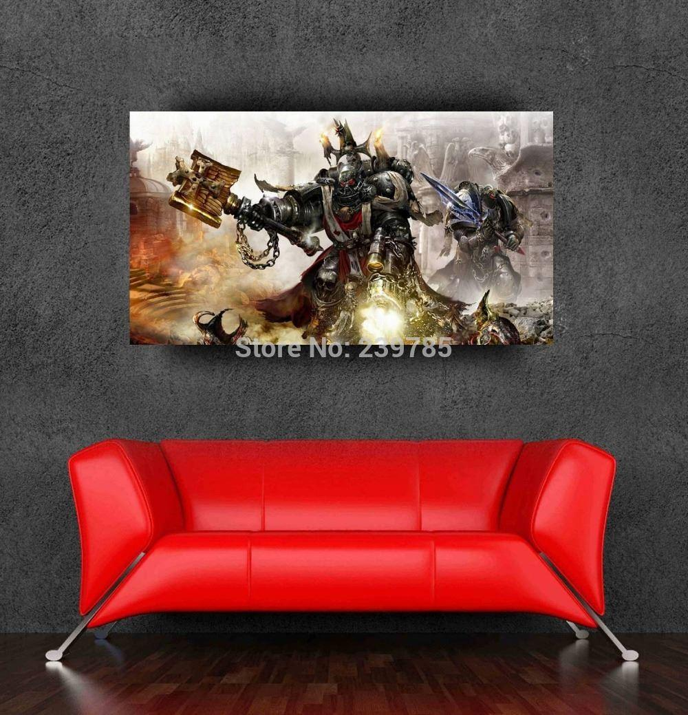 Newest warhammer 40k game wall sticker poster 24x41inch for Decor 40k