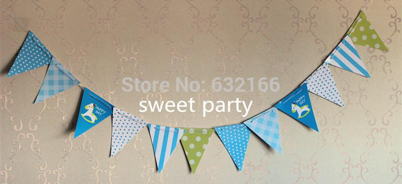 Triangle Decorative Flags Triangle Flag Party Paper
