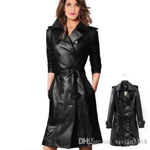 Ladies Plus Size Leather Coats