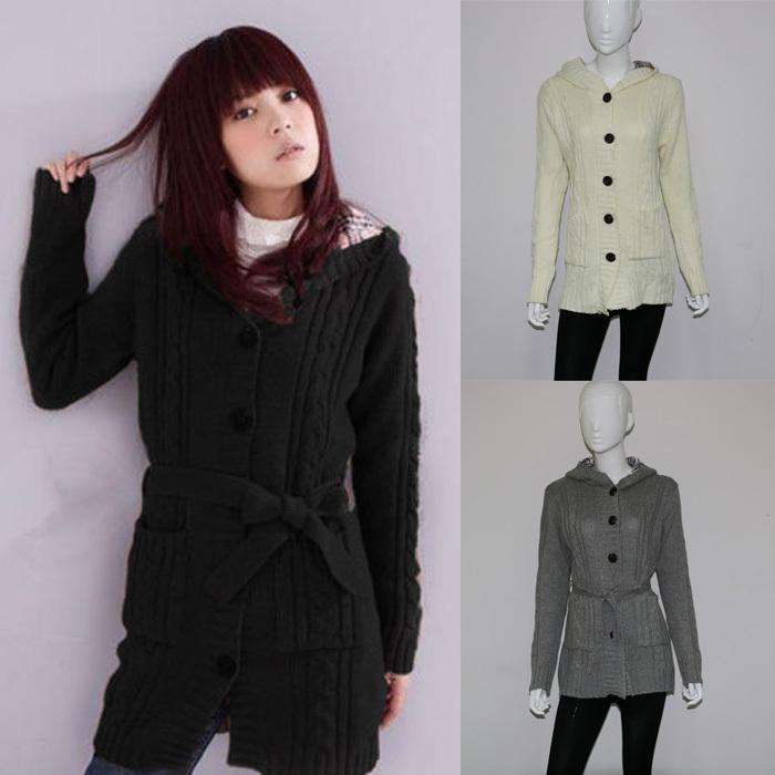 Womens Hooded Sweater Coat