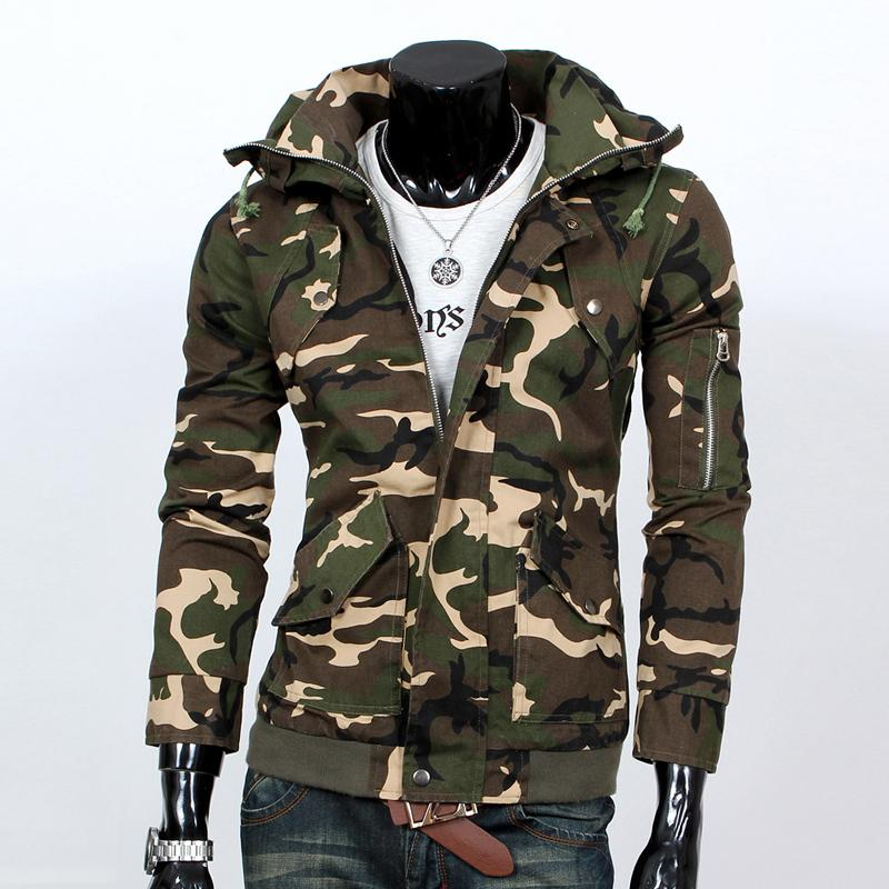 2015 New Brand Jackets Men Stand Collar Camouflage Jacket Men Good ...