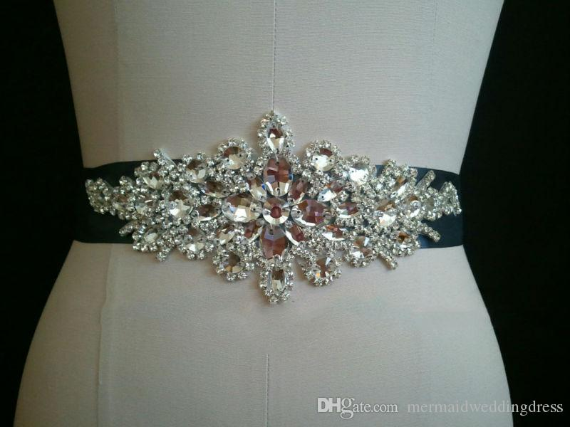2017 in stock cheap beading wedding waistband rhinestone