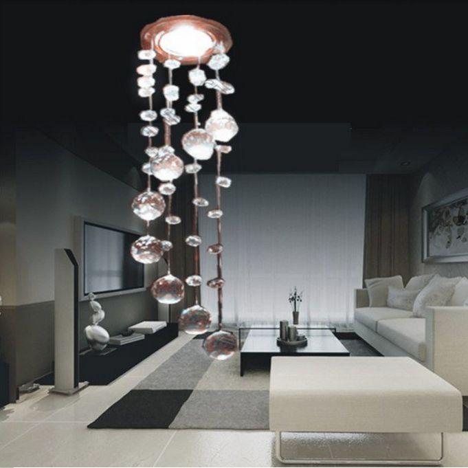 New 2014 3w led crystal chandeliers lights modern crystal lamps aisle high power lights 110v - Moderne kronleuchter ...