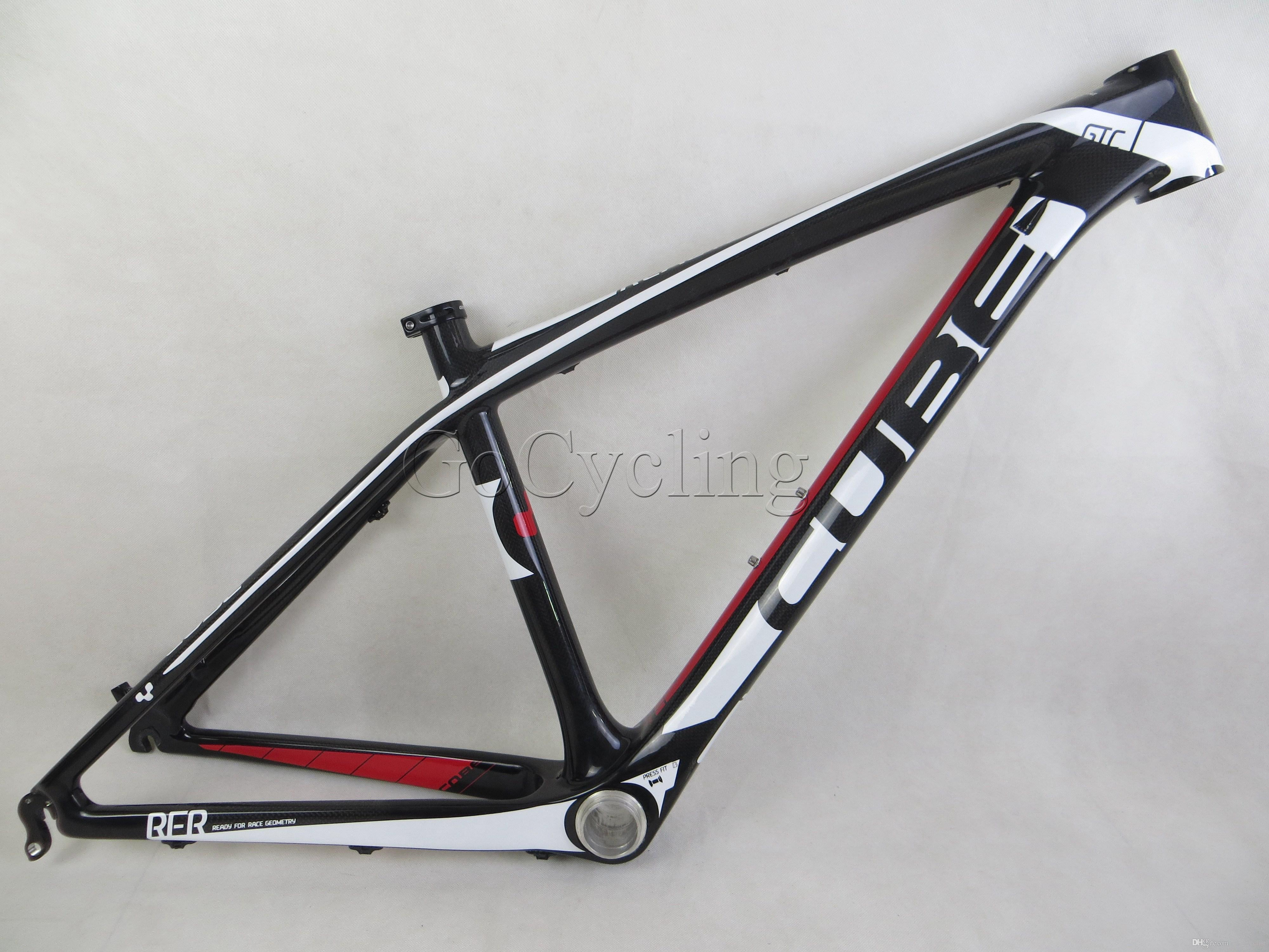 Cube 26er Glossy Black Red White Mountain Carbon Fiber