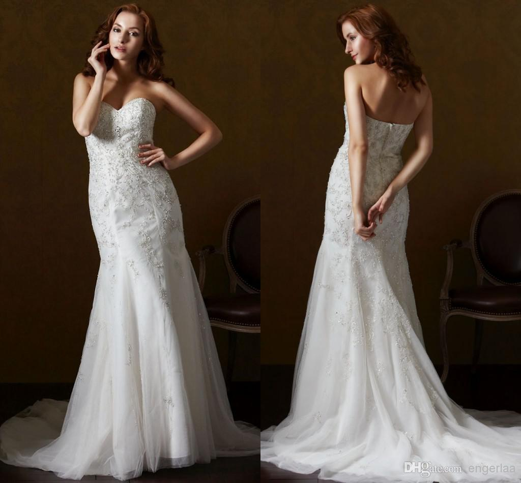 2015 Luxury Lace Mermaid Wedding Dresses Lace And Tulle