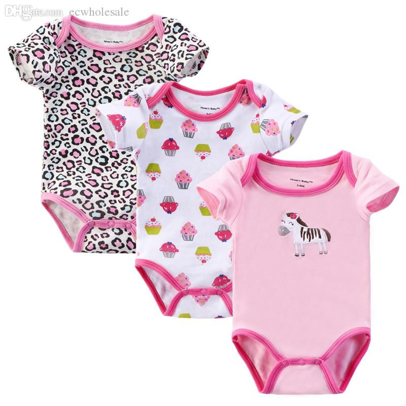 wholesale 0 6 month summer style baby girl clothes body baby bodysuits