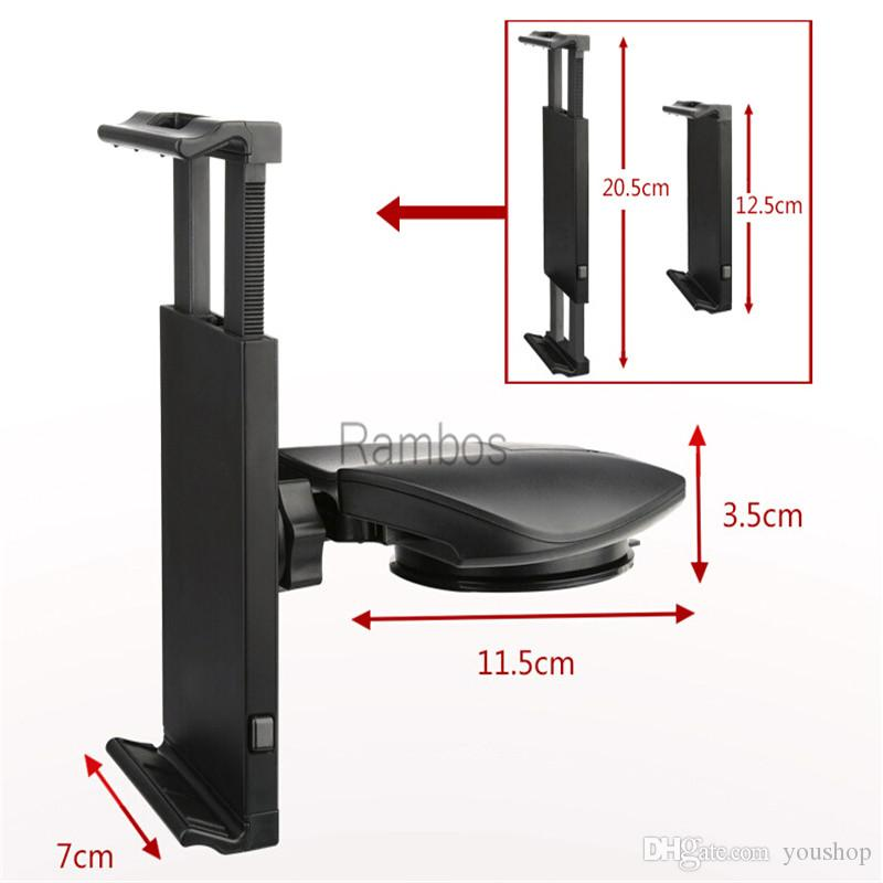 universal 710 tablet pc stands car windshield dashboard mount holder bracket cradle for ipad 2 3 4 5 air for samsung tablet pc tablet mount for car - Tablet Mount