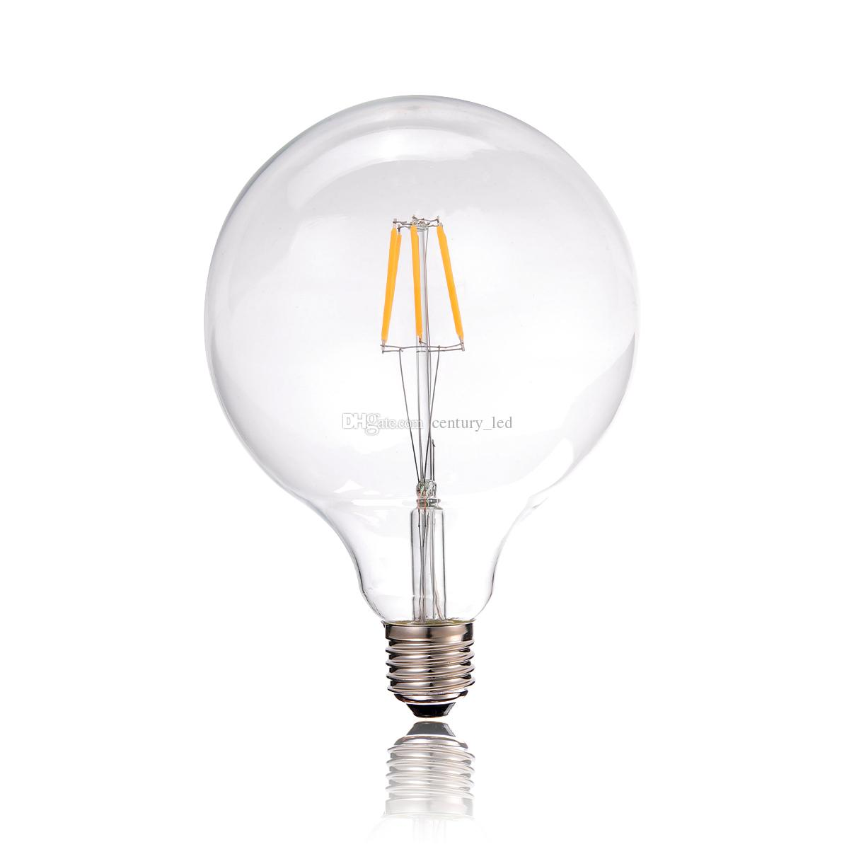 Vintage Led Filament Light Bulb 6w Edison G125 Globe Style Soft White 110 240v E26 E27 Medium