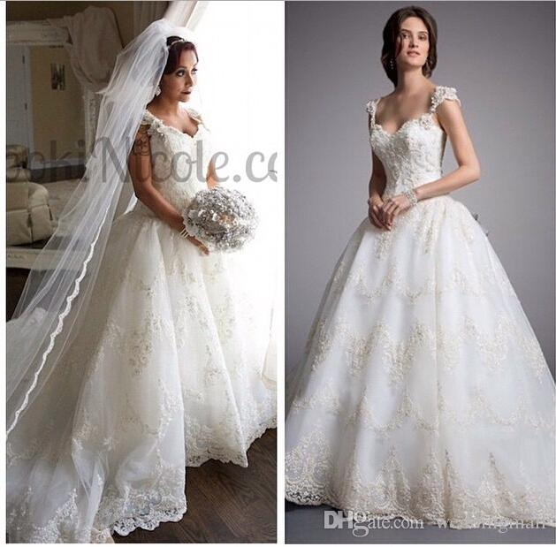 2015 Eve Of Milady Lace Crystals Arab Wedding Dresses Spaghetti
