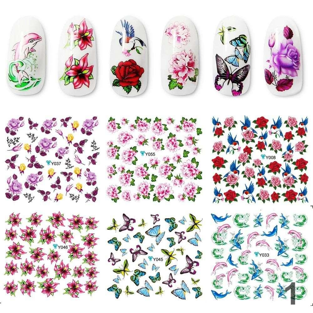 Stickers decals nail stickers nail art decals fashion - Newest Gel Stickers For Nails Fashion Water Stickers Diy Nail Art Stickers For Nail Art