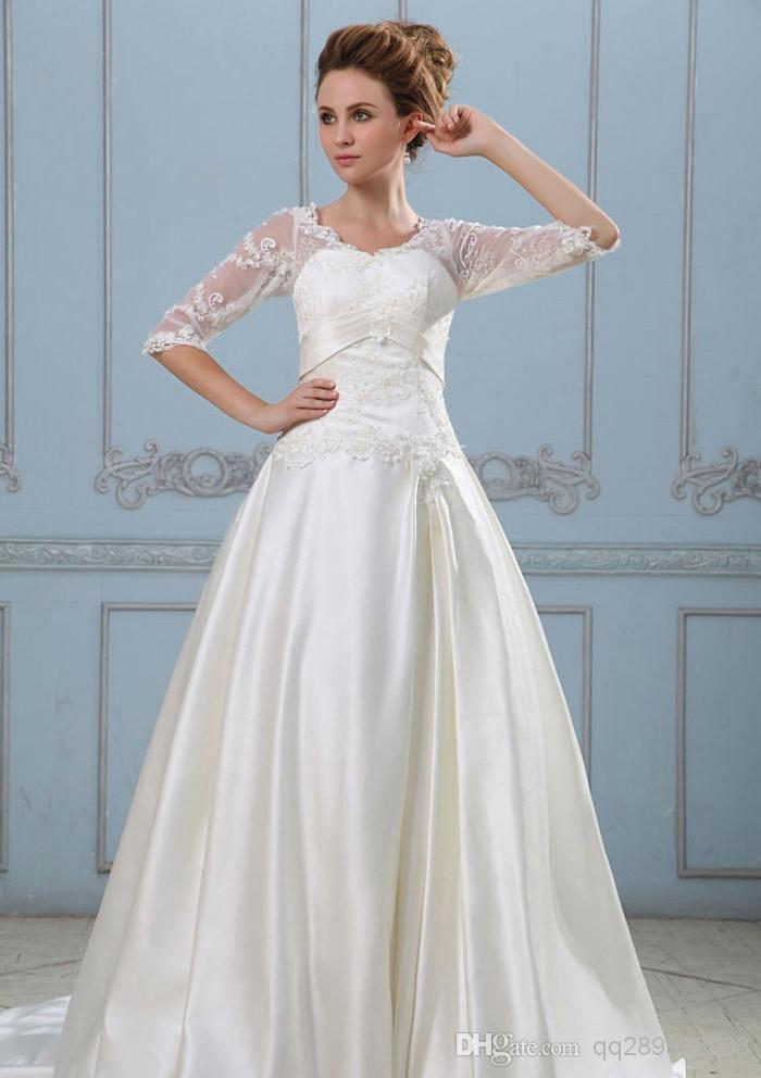 Modern Celebrity Wedding Dresses : Modern evening new bridal celebrity wedding dresses from