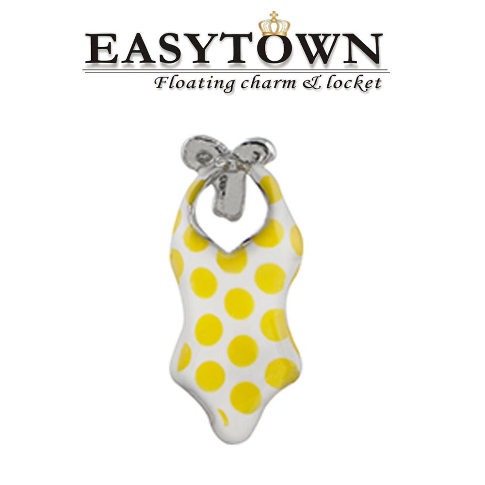 2017 2015 new design origami owl charms swimsuit floating