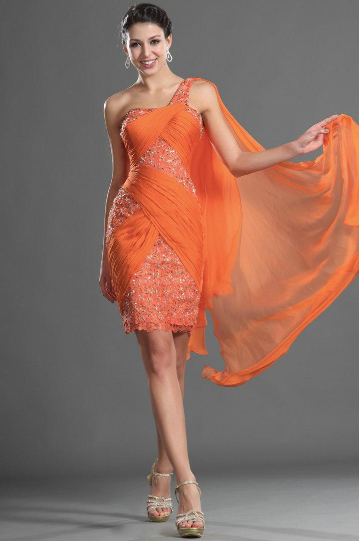 Collection Orange Party Dresses Pictures - Reikian