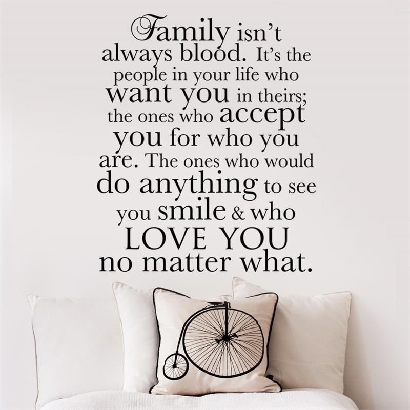 wall decal family art bedroom decor family is the one who love you no matter what wall stickers  vinyl removable mural decal art bedroom decor poster