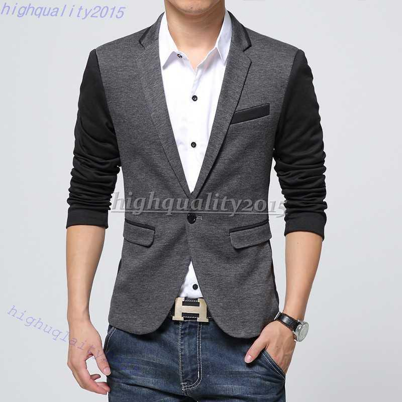 Best Quality New Style Men Blazer 2015 Suit Men Brand Casual Jacket Latest Coat Designs Leather ...