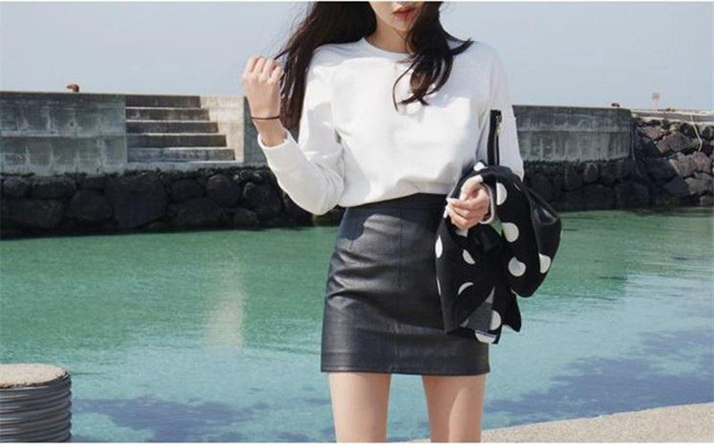 New Arrival Girls Skirts 2015 Sexy Short PU Leather Skirt High ...