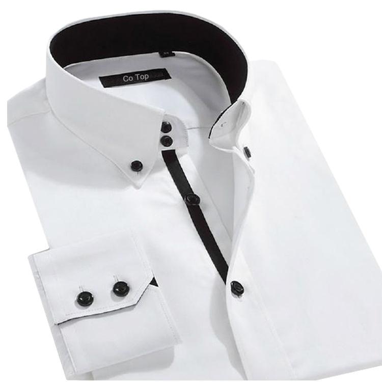 Online Cheap New 2015 Men Fashion Collar Button Dress Shirt Formal ...